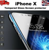 For iPhone X Xs 10 Screen Protector REAL Glass Full Coverage Edge-to-Edge CLEAR