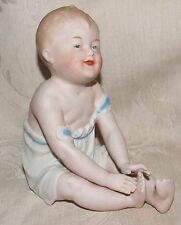 """Antique 1882-91 Large 6"""" German HEUBACH BROS PIANO BABY Bisque Figurine Germany"""