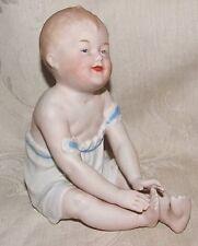 Antique 1882-91 German HEUBACH BROS PIANO BABY Bisque Figurine Germany L@@K