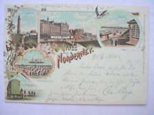11876 Litho AK Norderney 1900 Kaiserstr. Seesteg Turm