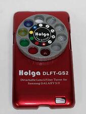 Holga Desmontable Lente Filtro Kit DLFT Para Samsung Galaxy Sii Rojo