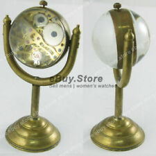 Vintage Steampunk Bronze Valuable Copper Mechanical Glass Ball Case Pocket Watch