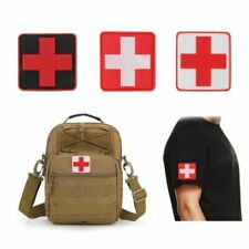 3pc PVC Badge 3D Swiss Flag Red Cross Rubber Patch Medical Morale Rescue Armband