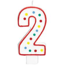 Extra Large Amscan Birthday Party Perfect Candle #2  Number 5 inches Wax Zero 2
