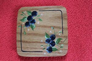 J.W. Miniature 1999 Two-Pie Lid for Longaberger Basket - handmade & handpainted
