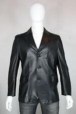 Schott leather jacket 42 blazer mint black vintage made in usa 3 button