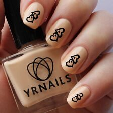Nail WRAPS Nail Art Water Transfers Decals - Cute Hearts - S249