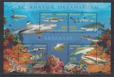Fish Kazakhstan Kasachstan 2016 MNH** Mi.972-975 Bl.84 Astana Shark Aquarium