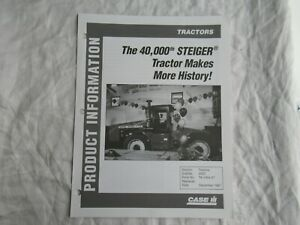 Case CASEIH 40,000th Steiger product information brochure