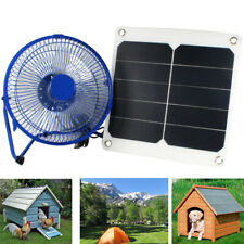 Solar Panel Powered Mini Fan For Greenhouse Chicken Coop Dog House Ventilator