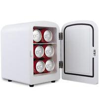 Mini Fridge Portable Cooler Warmer Heats 4L Auto Car Boat Home Office White