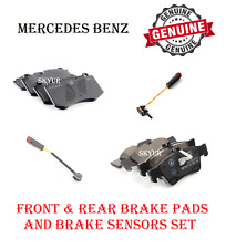 Front & Rear Brake Pads Sets With Sensors For Mercedes W216 W221 W230 Genuine