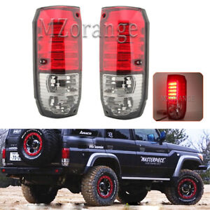 2X Tail Lamp Rear Light For Toyota Land Cruiser LC70 76 78 1984-2007 Red & Smoke