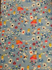 Timeless Treasures Alice In Wonderland Fabric Material by 1/4 of a METRE  W 44""