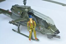 GI Joe Dragonfly XH-1 attack copter Complete with Wild Bill! Pristine!