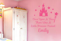 Personalized Once Upon A Time Wall Stickers Vinyl Art Decals