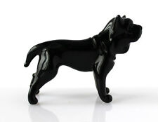 "Blown Glass Rottweiler Figurine, Lampwork ""Murano"" Art Dog"