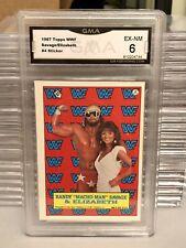 1987 Topps GMA WWF Macho Man Randy Savage Elizabeth WCW WWE Wrestling Rookie AEW