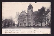 c1907 Alma College buildings Alma Michigan postcard