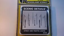 Woodland Scenics HO Scale1 87 Street Traffic Lights D248 Cast Metal Scenery