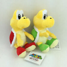 2X Super Mario Bros Green & Red Koopa Troopa Plush Soft Toy Stuffed Animal 6""