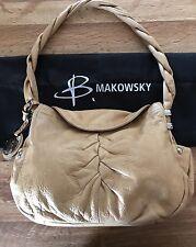 B Makowsky Pebbled Leather Handbag Yellow