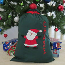 CHILD'S PERSONALISED CHRISTMAS / SANTA SACK - SANTA DESIGN -