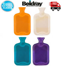 Plain Ribbed 2.0L Hot Water Bottle Beldray Easy Grip, Natural Durable Rubber