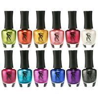SXC Metallic Nail Polish Lacquer 15ml/0.5fl set of 12 Colors lot
