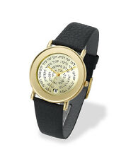 Adi Judaica Watches Israeli Hebrew Famous Bible Quotes Gold & Leather