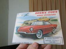 DINKY TOYS Catalogue Français de 1960, Très bonne Reproduction