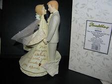 "Enesco Foundations Bride and Groom Figurine Cake Topper 4007610 7 3/4"" H BOX"