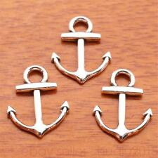 60Piece 19mm Charms Anchor pendant DIY Jewelry For Bracelet Tibetan Silver 7116H