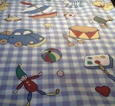 Children's toys fabric piece 85cmx60cm, sewing, Piece A style, car, boat drum