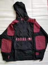 Vintage 90s San Francisco 49ers Winbreaker Jacket NFL Black Red Mens Size L d9da96569