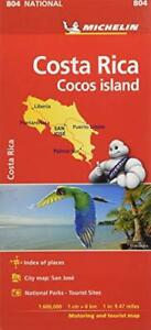Costa Rica National Map 804 (Michelin National Maps) by Michelin, NEW Book, FREE