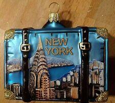 DEKO Weihnachtsanhänger,Weihnachts,Christbaumschmuck,Koffer Motiv New York