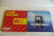 LOT DE 2 CD DOUBLE CHILLOUT SESSION 2 + CLUB NATION 2001. MINISTRY OF SOUND.