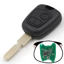 Remote Key FOB 2 Button 433MHz For Peugeot 406 With ID46 Chip Uncut Blank Blade