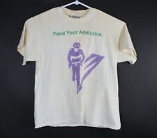 Vintage Hanes Beefy T-Shirt Sz L Feed Your Addiction Ultra Marathon Cycling UMCA