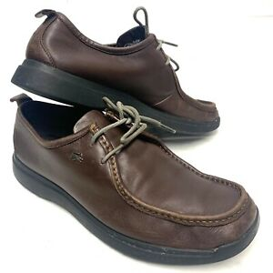Mens LACOSTE Wallaby Style Brown Leather Shoes - Size 9