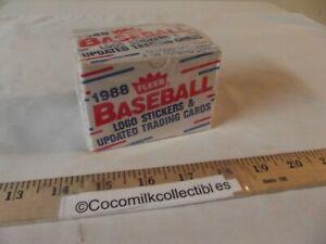 1988 Fleer Baseball 132 Cards Update Traded Factory Sealed Box Smoltz Biggio RC