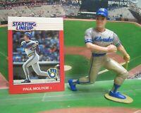 1988 PAUL MOLITOR - Starting Lineup Baseball Figure & Card - MILWAUKEE BREWERS