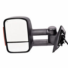 New Left Side Power Heated Turn Signal Towing Mirror Black for Silverado 07-13