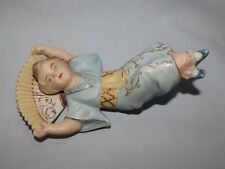 Antique Bisque Piano Doll small child with Oriental Fan Geisha style