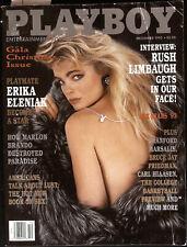 PLAYBOY US December 1993 ERIKA ELENIAK Rush Limbaugh ARLENE BAXTER Fem2Fem Band