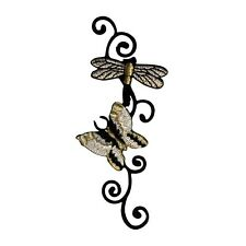ID 0411 Butterfly and Dragonfly Vine Patch Bugs Embroidered Iron On Applique