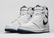 Nike Air Jordan 1 OG High Retro White Metallic Navy 555088-106 Sz 13