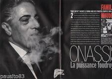 Coupure de presse Clipping 1995 La Famille Aristote Onassis  (12 pages)