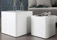 Beistelltisch Couchtisch MONOLIT hochglanz weiss 2er Set Design Tisch Set NEU